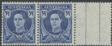 SG 207 ACSC 231a. 3½d Bright Blue King George VI (AA1/149)